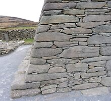 Gallarus Oratory, detail of stonework by nealbarnett