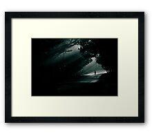 dark ahead! Framed Print