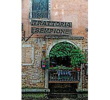 Trattoria Sempione v2 Photographic Print