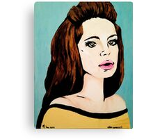 Video Games Girl - Original Painting (Scanned) Canvas Print
