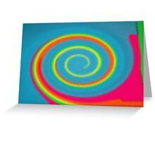 Glass Twirl Rainbow  Greeting Card