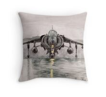 Harrier in the mist Throw Pillow