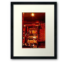 Sims Corner Steakhouse & Oyster Bar Framed Print
