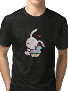 Cupcake Bunny Tri-blend T-Shirt