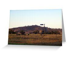 """Evening graze - Riverina Hwy outside Albury"" Greeting Card"