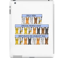 August 31st Birthday for cat lovers. iPad Case/Skin