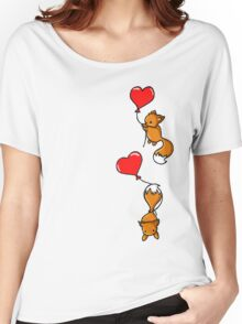 Playful Foxes Women's Relaxed Fit T-Shirt