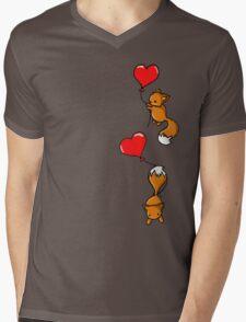 Playful Foxes Mens V-Neck T-Shirt