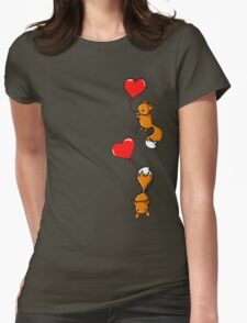 Playful Foxes Womens Fitted T-Shirt