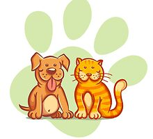 Cat and dog by SIR13