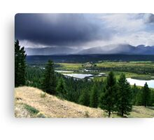 Thunderstorm ,Kootenay Mountains Canvas Print