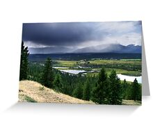 Thunderstorm ,Kootenay Mountains Greeting Card