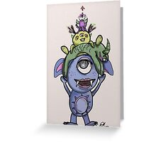 Monster Piles Greeting Card
