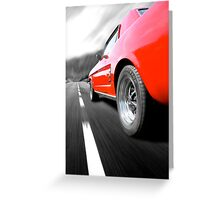 The road ahead - Ford Mustang Greeting Card
