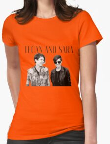 Happy Tegan and Sara + logo Womens Fitted T-Shirt