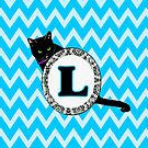 L Cat Chevron Monogram by gretzky