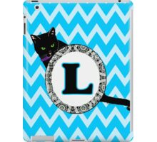 L Cat Chevron Monogram iPad Case/Skin