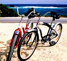 Beach Cruisers in Abaco by Jennifer Uher