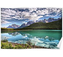 Waterfowl Lake, Banff National Park Poster