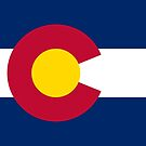 Colorado State Flag by Mark Podger