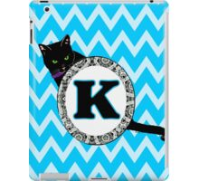 K Cat Chevron Monogram iPad Case/Skin