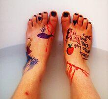 Frida's Feet. by Fuschia