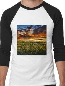 Sunflower Field Men's Baseball ¾ T-Shirt