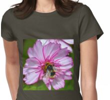 Bumble Bee on Cosmos Flower Womens Fitted T-Shirt