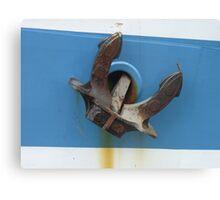 Anchor of sail training ship STS Mir  Canvas Print