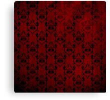 Halloween Damask - Red Canvas Print