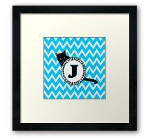 J Cat Chevron Monogram Framed Print