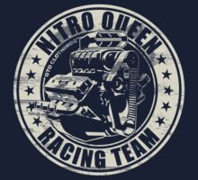 Nitro Queen Racing Team V8 Muscle Car | Aged White One Piece - Short Sleeve