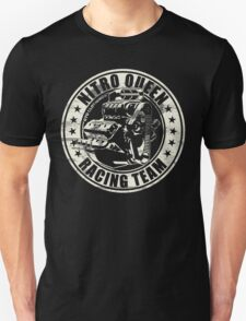 Nitro Queen Racing Team V8 Muscle Car | Aged White Unisex T-Shirt