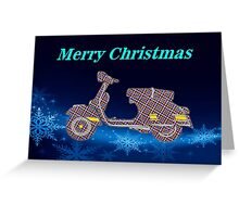 Vespa Bauble Greeting Card
