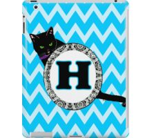 H Cat Chevron Monogram iPad Case/Skin