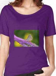 Silver-studded Blue Butterfly Women's Relaxed Fit T-Shirt
