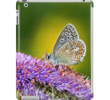 Silver-studded Blue Butterfly iPad Case/Skin