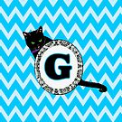 G Cat Chevron Monogram by gretzky