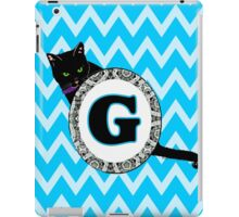 G Cat Chevron Monogram iPad Case/Skin