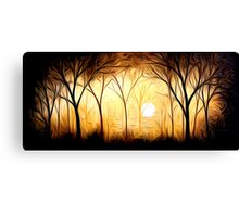 Abstract Trees Oil Painting #6 Canvas Print
