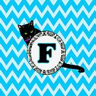 F Cat Chevron Monogram by gretzky