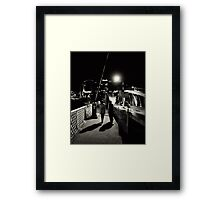 Turn back, it is not your time Framed Print
