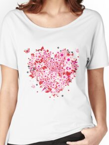 Beautiful floral heart Women's Relaxed Fit T-Shirt