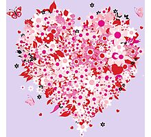 Beautiful floral heart Photographic Print