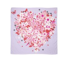 Beautiful floral heart Scarf