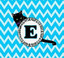 E Cat Chevron Monogram by gretzky