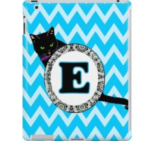 E Cat Chevron Monogram iPad Case/Skin