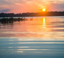 Calm Sunset on the Lake by Parker Cunningham