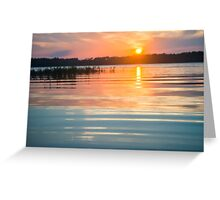 Calm Sunset on the Lake Greeting Card