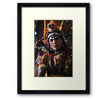 Young man Dresses as Lord Shiva  Framed Print